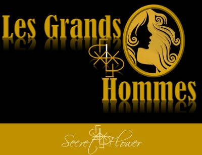 Les grands hommes - gold and black - secret flower