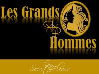 Les grands hommes - gold and black - secret flower
